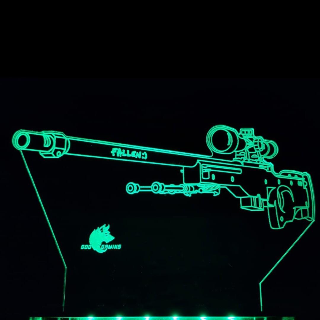 Luminária Gamer AWP