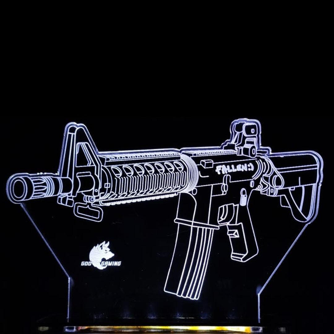 Luminária Gamer M4A4