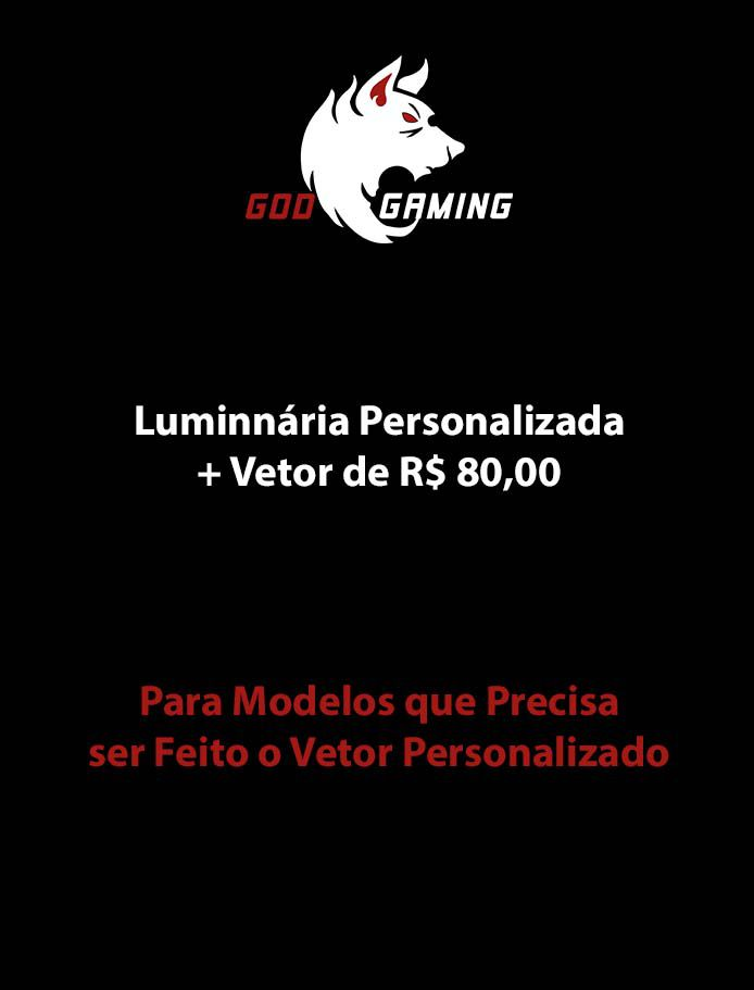 Luminaria Personalizada + Vetorização no valor R$ 80,00