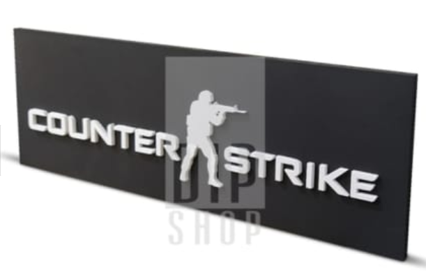 Painel Counter Strike + 20 Chaveiros