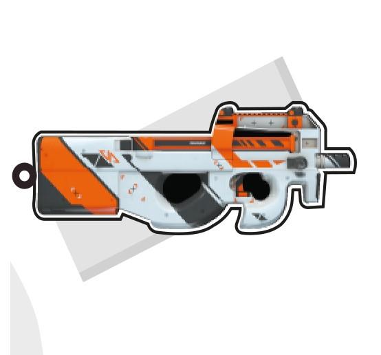 Chaveiros Personalizados AUG, P90 e Glock