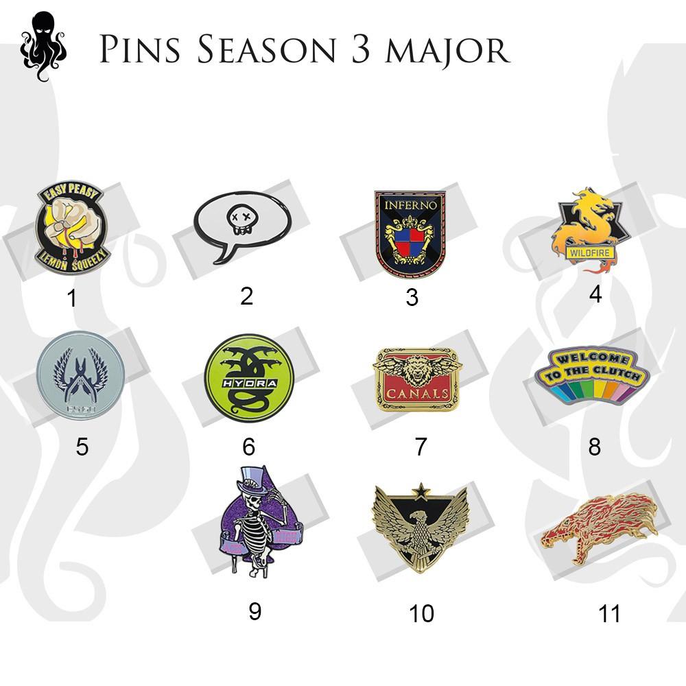 Pins Major - 3