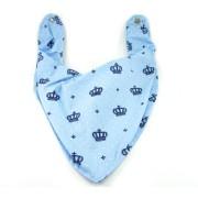 Bandana Bebê Estilosa Azul Príncipe Coroa