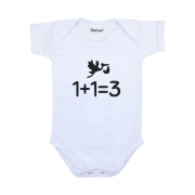 Body Bebê Anunciar Gravidez 1+1=3