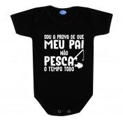 Body Bebê Frase Divertida Papai Pesca
