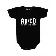 Body Bebê Rock ABCD My First Rock Shirt