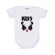Body Bebê Rock Banda Kiss Urso