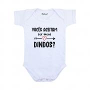Body Bebê Vocês aceitam ser meus dindos?