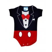 Body de Bebê Mickey Terno