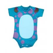 Body de Bebê Personagem Sullivan Mêsversário Orelhinhas