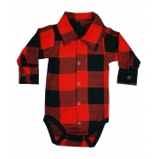 Body de Bebê Polo Xadrez