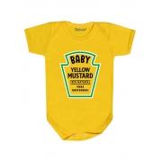 Body Divertido Bebê Mostarda