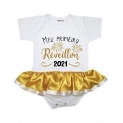 Body Saia Bebê Ano Novo Meu Primeiro Réveillon 2021