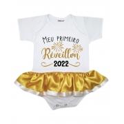 Body Saia Bebê Ano Novo Meu Primeiro Réveillon 2022