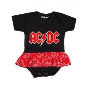 Body Saia Bebê Banda ACDC Rock