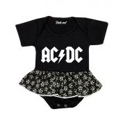 Body Saia Bebê Banda ACDC Rock´n Roll