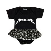 Body Saia Bebê Banda Metallica Rock´n Roll