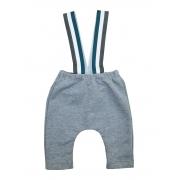 Calça para Bebê Moletom Mescla suspensório