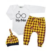 Conjunto Bebê Baby Potter 3 peças