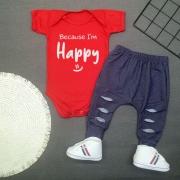 Conjunto Bebê Estiloso Because I´m Happy