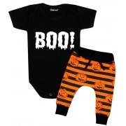 Conjunto Bebê Halloween Boo Abóbora Divertida