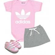 Conjunto Bebê Menina Adidas Body Saia e Tênis