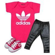 Conjunto Bebê Menina Estiloso Adidas