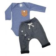 Conjunto Bebê Menino Estiloso Body + Calça