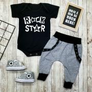 Conjunto Bebê Menino Estiloso Rock Star