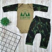Conjunto Bebê Militar Camuflado Camping