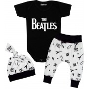 Conjunto de Rock Bebê Roupa Estilosa The Beatles