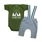 Conjunto Estiloso Moda Bebê Camping