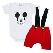 Conjunto Mickey com Shorts Suspensório