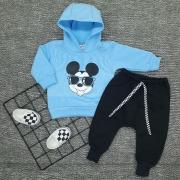 Conjunto Moletom Inverno Mickey 3 peças