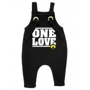 Jardineira Para bebê Macacão Estiloso Reggae One Love