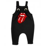 Jardineira Para bebê Macacão Estiloso Rock Rolling Stones
