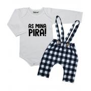 Kit 2 Peças Roupa Bebê Estilosa As Mina Pira!