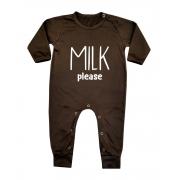 Macacão Bebê Longo em Malha Milk Please