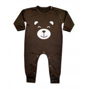 Macacão Bebê Longo Urso Marrom