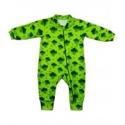 Macacão Bebê Soft Com Estampa de Brócolis Super Quentinho