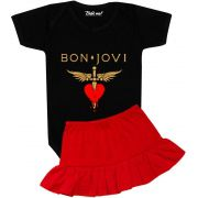 Roupa Bebê Menina Body Rock Bon Jovi