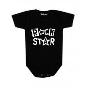 Roupa Body Bebê Rock Star Preto