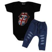 Roupa de Rock Bebê Rolling Stones