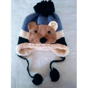 Touca Para Bebê Inverno Urso Pompom