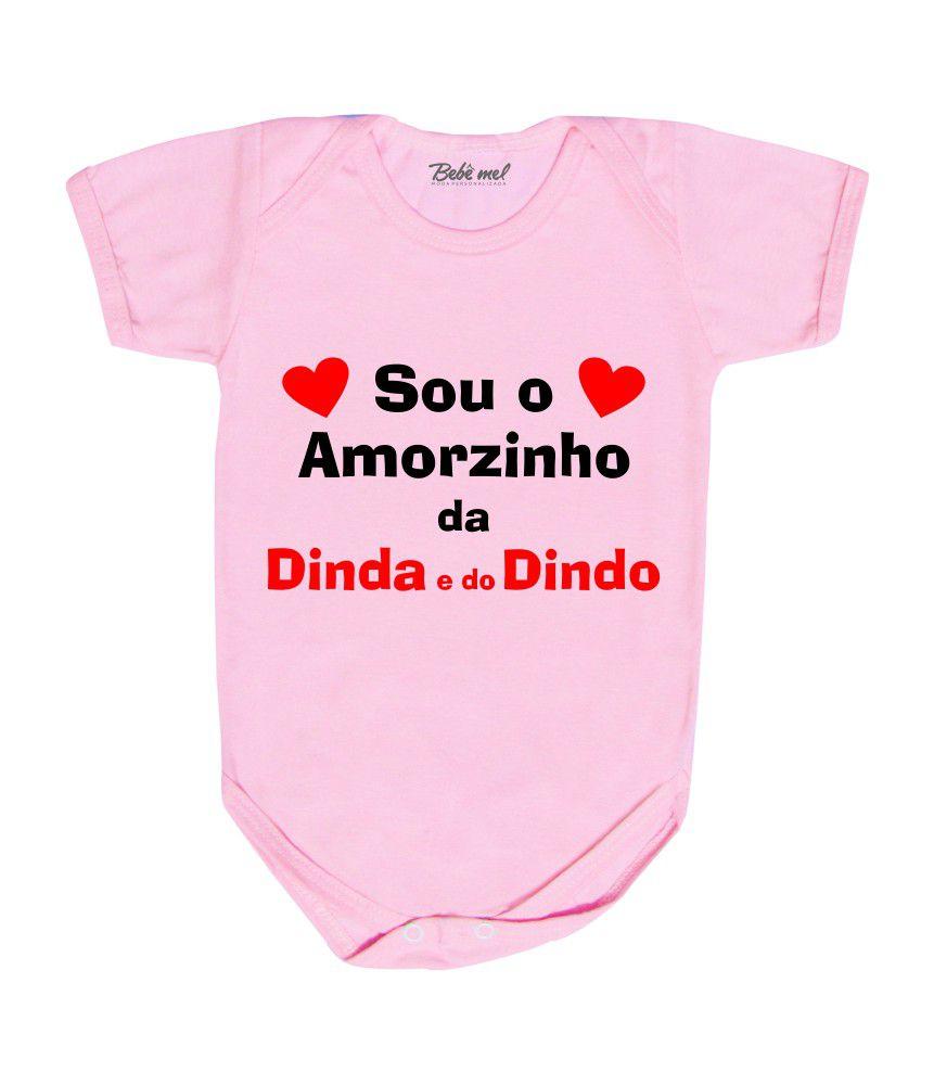 Body Bebê Amorzinho Dinda e Dindo
