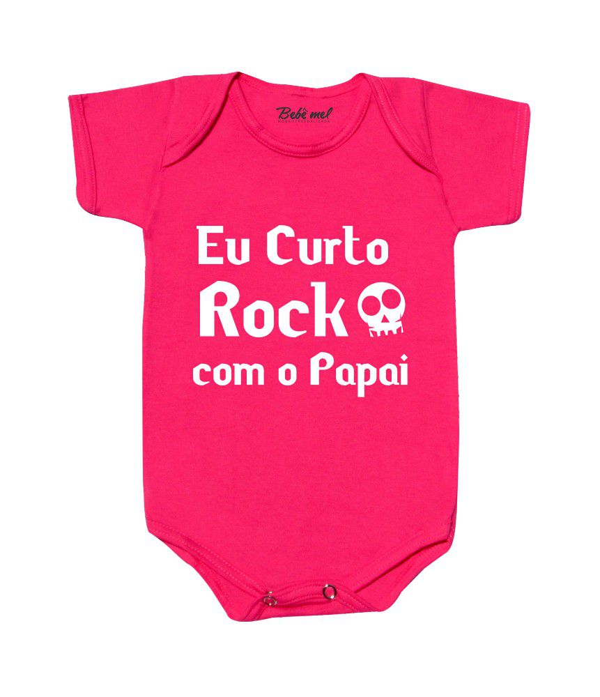 Body Bebê Curto Rock Papai