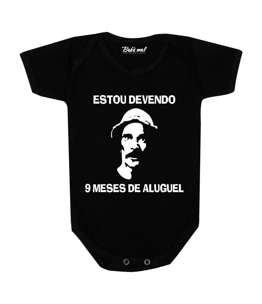 Body Bebê Divertido Devendo 9 meses de Aluguel