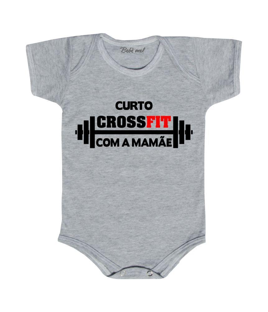 Body Bebê Frase Crossfit Mamãe