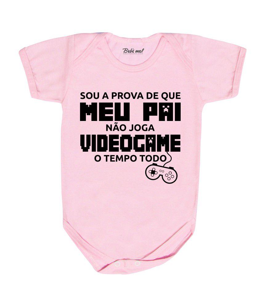 Body Bebê Frase Divertida Papai Videogame