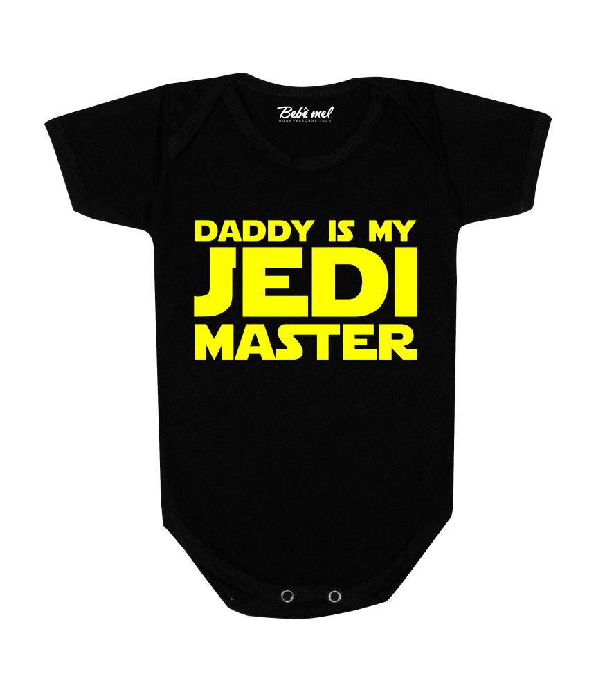Body Bebê Geek Dad Jedi Star Wars